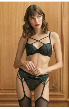Roxane - Bra, Suspender-Belt & Brief set