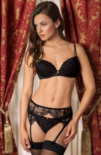 Anne - Bra, Suspender Belt & Shorty set