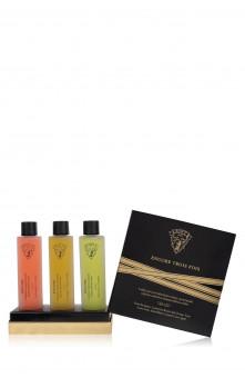 Encore Trois Fois - Kit de lubrifiant gourmands (Fruits Exotiques, Caramel au Beurre Salé & Pomme Verte !)